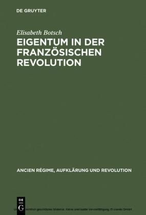 Eigentum in der Französischen Revolution