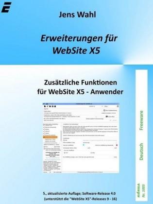 Erweiterungen für WebSite X5