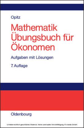 Mathematik Übungsbuch für Ökonomen