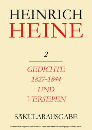 Gedichte 1827-1844 und Versepen