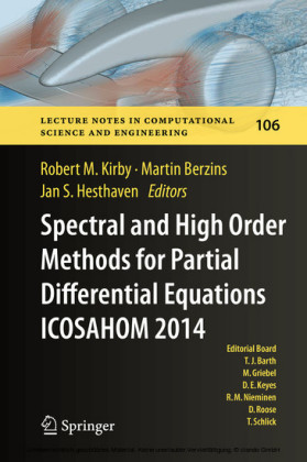 Spectral and High Order Methods for Partial Differential Equations ICOSAHOM 2014