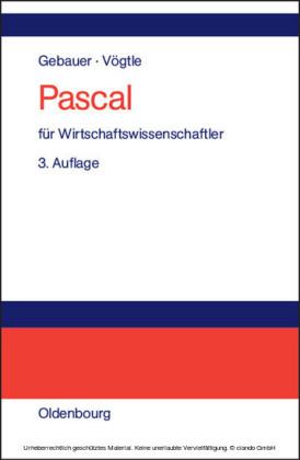 Pascal für Wirtschaftswissenschaftler