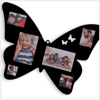 Fotorahmen Acryl-Schmetterling schwarz