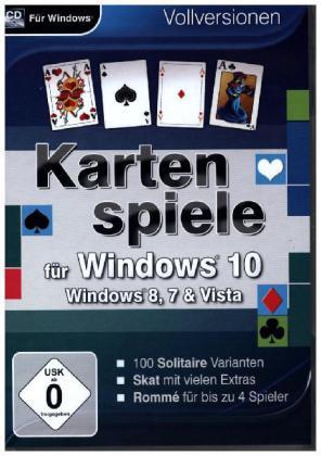 Kartenspiele für Windows 10, 1 CD-ROM