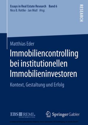 Immobiliencontrolling bei institutionellen Immobilieninvestoren