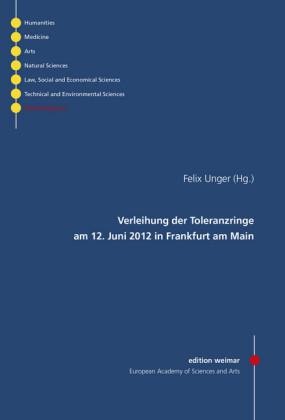 Verleihung der Toleranzringe am 12. Juni 2012 in Frankfurt am Main