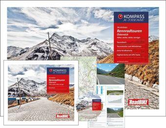 Kompass Rennradführer Die höchsten Rennradtouren Österreich, m. 30 Karten u. 1 DVD