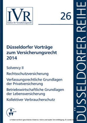 Düsseldorfer Vorträge zum Versicherungsrecht 2014