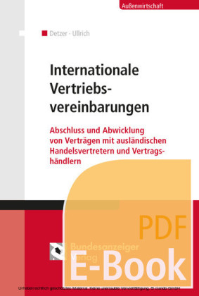Internationale Vertriebsvereinbarungen (E-Book)