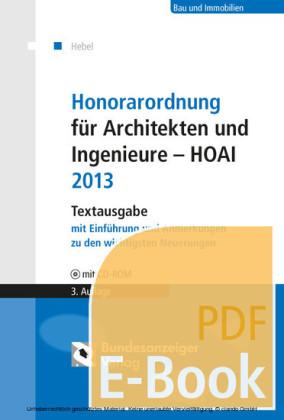 Honorarordnung für Architekten und Ingenieure - HOAI 2013 (E-Book)