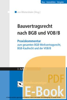 Bauvertragsrecht nach BGB und VOB/B (E-Book)