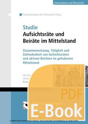 Studie Aufsichtsräte und Beiräte im Mittelstand (E-Book)