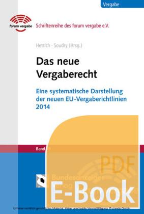 Das neue Vergaberecht (E-Book)