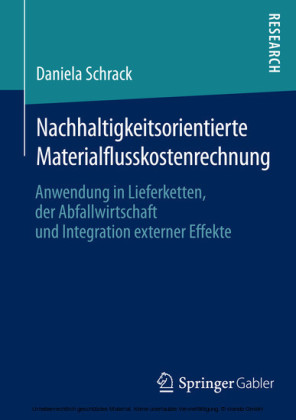 Nachhaltigkeitsorientierte Materialflusskostenrechnung