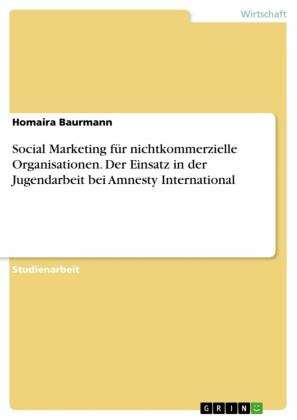 Social Marketing für nichtkommerzielle Organisationen. Der Einsatz in der Jugendarbeit bei Amnesty International