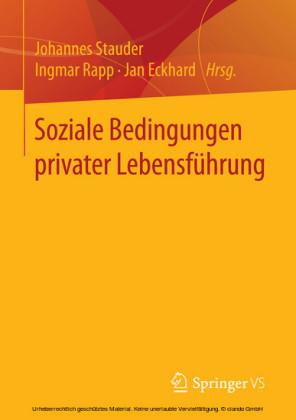 Soziale Bedingungen privater Lebensführung