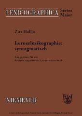Lernerlexikographie: syntagmatisch