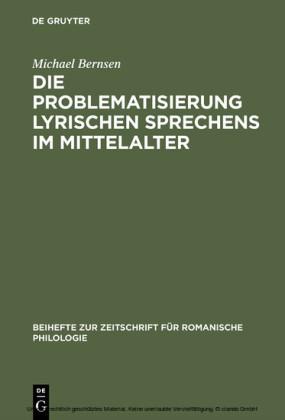 Die Problematisierung lyrischen Sprechens im Mittelalter