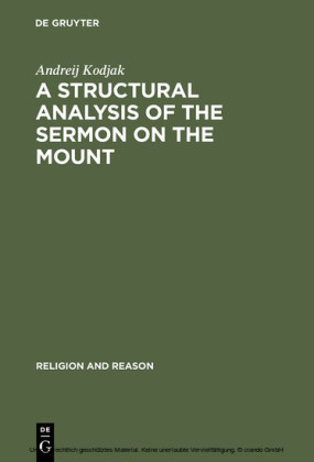 A Structural Analysis of the Sermon on the Mount