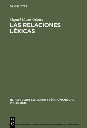 Las relaciones léxicas