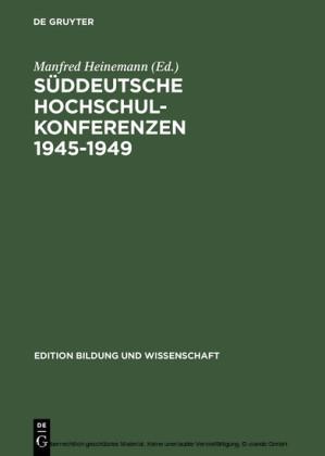 Süddeutsche Hochschulkonferenzen 1945-1949
