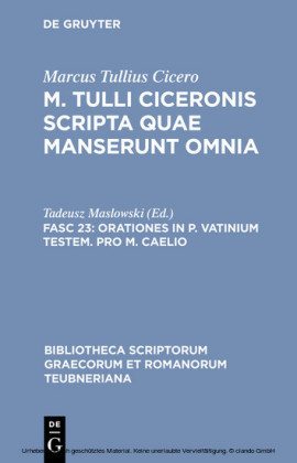 Orationes in P. Vatinium testem. Pro M. Caelio
