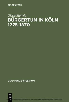 Bürgertum in Köln 1775-1870