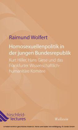 Homosexuellenpolitik in der jungen Bundesrepublik