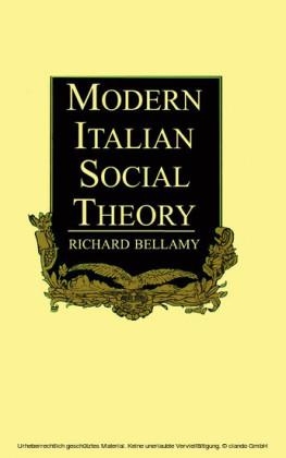 Modern Italian Social Theory