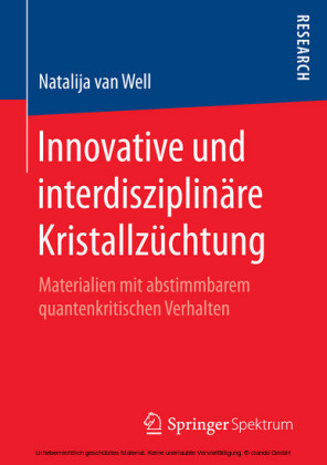 Innovative und interdisziplinäre Kristallzüchtung