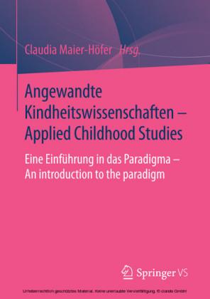 Angewandte Kindheitswissenschaften - Applied Childhood Studies