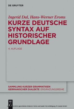Kurze deutsche Syntax auf historischer Grundlage