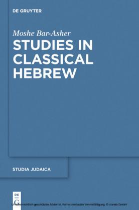 Studies in Classical Hebrew
