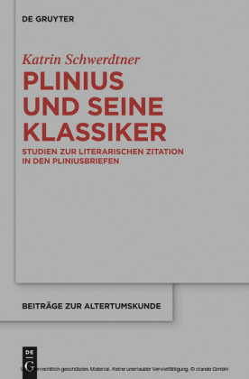 Plinius und seine Klassiker