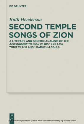 Second Temple Songs of Zion