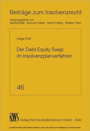 Der Debt Equity Swap im Insolvenzplanverfahren
