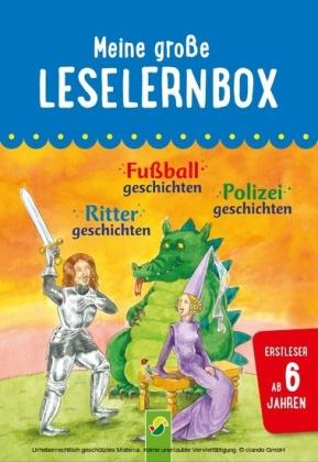 Meine große Leselernbox: Rittergeschichten, Fußballgeschichten, Polizeigeschichten