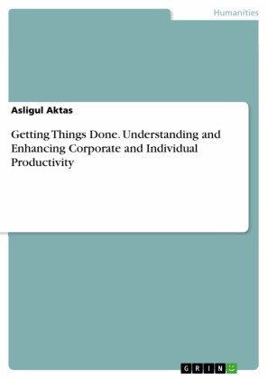 Getting Things Done. Understanding and Enhancing Corporate and Individual Productivity