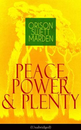 Peace, Power & Plenty (Unabridged)