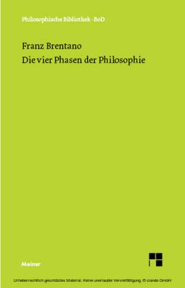 Die vier Phasen der Philosophie und ihr augenblicklicher Stand