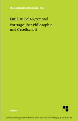 Vorträge über Philosophie und Gesellschaft