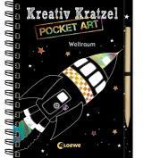 Kreativ-Kratzel Pocket Art: Weltraum