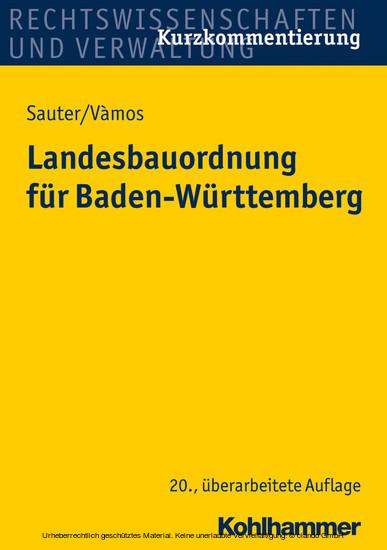 Landesbauordnung Fur Baden Wurttemberg Ebook Hofer Life