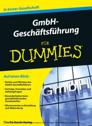 GmbH-Geschftsfhrung für Dummies