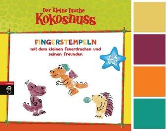 Der kleine Drache Kokosnuss - Fingerstempeln, m. 4 Fingerstempelfarben