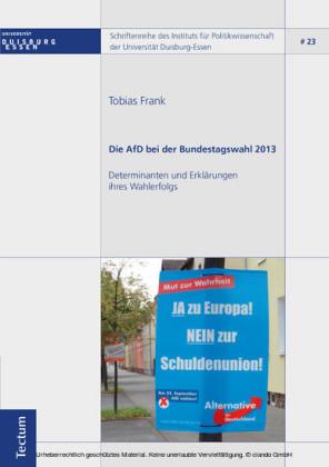 Die AfD bei der Bundestagswahl 2013