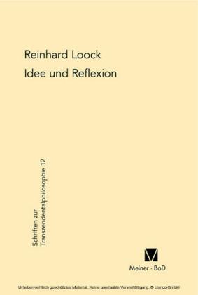 Idee und Reflexion bei Kant