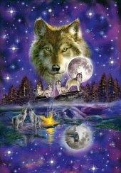 Wolf im Mondlicht (Puzzle)