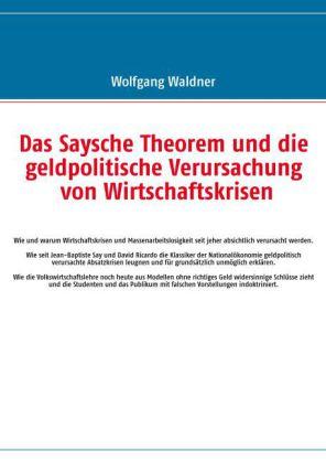 Das Saysche Theorem und die geldpolitische Verursachung von Wirtschaftskrisen