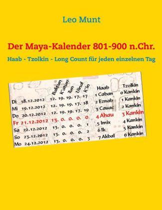 Der Maya-Kalender 801-900 n.Chr.